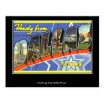 Greetings from Dallas Vintage Postcard Postcard