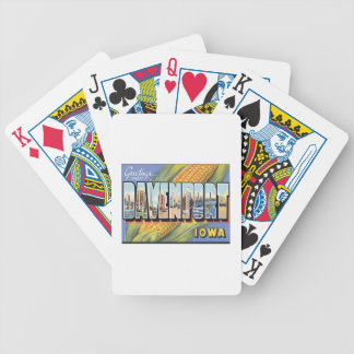 Greetings From Davenport Iowa Bicycle Playing Cards