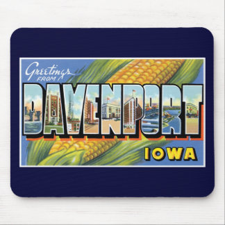 Greetings from Davenport, Iowa! Mouse Pad