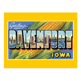 Greetings From Davenport, Iowa Postcard