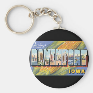 Greetings from Davenport Kansas_Vintage Travel Keychain