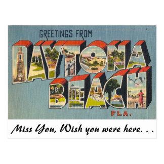 Greetings from Daytona Beach, Florida Postcard