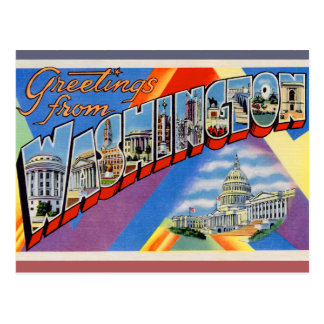 Greetings From DC Postcard