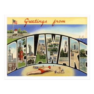 Greetings From Delaware Postcard
