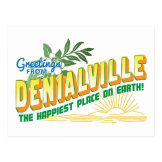 Greetings from Denialville - denial Postcard