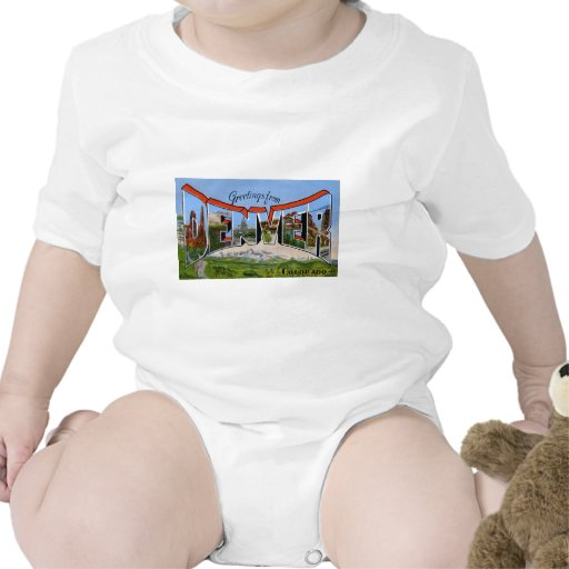 Greetings from Denver Colorado Baby Bodysuits