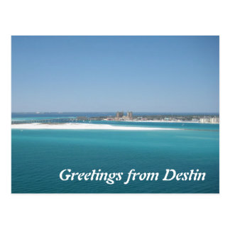Greetings from Destin Postcard