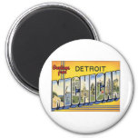 Greetings From Detroit Michigan 2 Inch Round Magnet