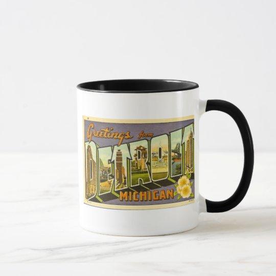 Greetings from Detroit Michigan Mug