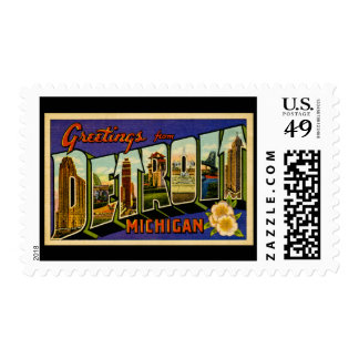 Greetings from Detroit Michigan Postage