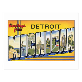 Greetings from Detroit, Michigan Postcard
