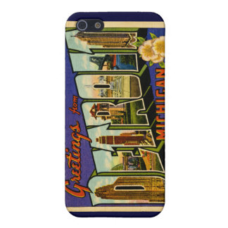 Greetings from Detroit Michigan Vintage Cover For iPhone SE/5/5s