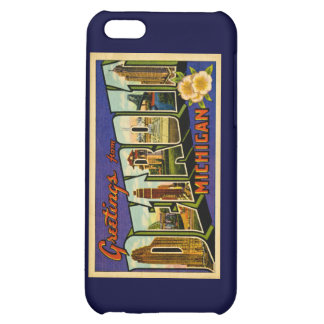 Greetings from Detroit Michigan Vintage Retro iPhone 5C Case