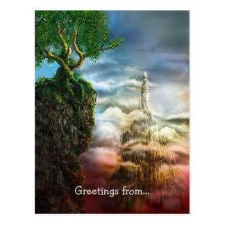 Greetings from... Dis aliter visum est - Postcard
