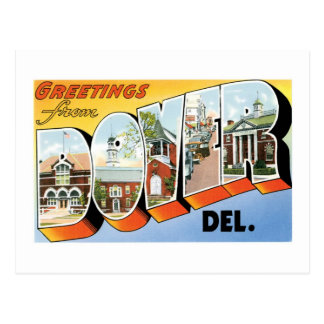 Greetings from Dover, Delaware! Postcard
