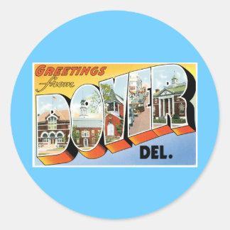 Greetings from Dover, Delaware! Sticker