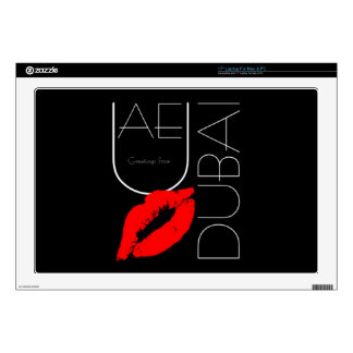 Greetings from Dubai UAE Red Lipstick Kiss Decal For Laptop