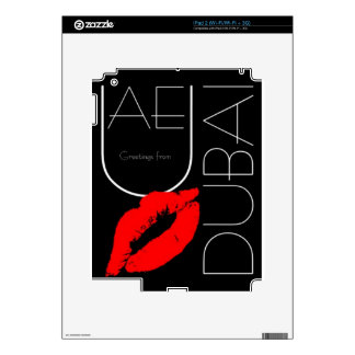 Greetings from Dubai UAE Red Lipstick Kiss Skin For iPad 2