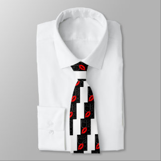 Greetings from Dubai UAE Red Lipstick Kiss Tie
