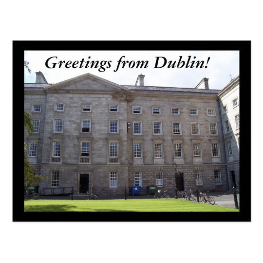 Greetings from Dublin! Postcard