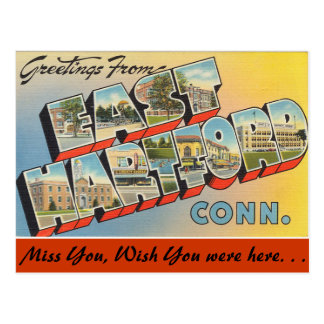 Greetings from East Hartford Postcard