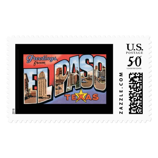 Greetings from El Paso Postage