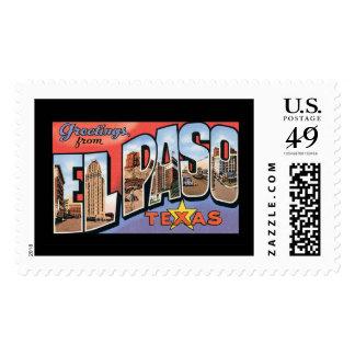 Greetings from El Paso Postage Stamp