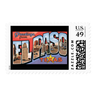 Greetings from El Paso Texas Stamp