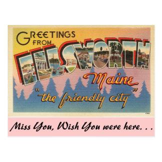 Greetings from Ellsworth Postcard
