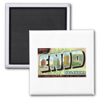 Greetings from Enid, Oklahoma Magnet
