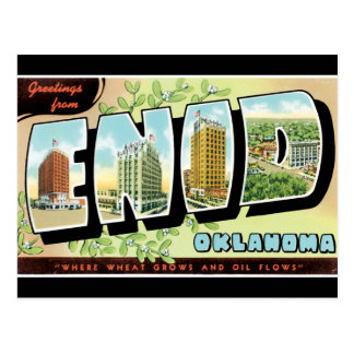 Greetings from Enid Post Cards