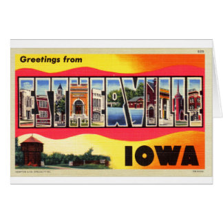 Greetings From Estherville, Iowa Letter Postcard