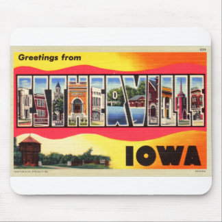 Greetings From Estherville, Iowa Letter Postcard Mouse Pad
