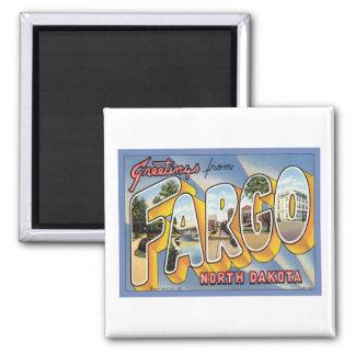 Greetings From Fargo North Dakota 2 Inch Square Magnet
