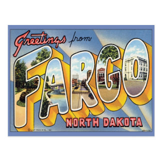 Greetings From Fargo North Dakota Postcard