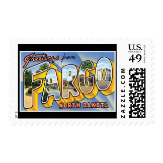 Greetings from Fargo North Dakota Stamps