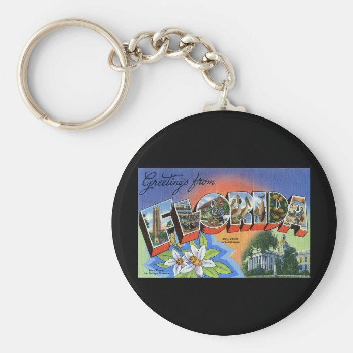 Greetings from Florida Keychain