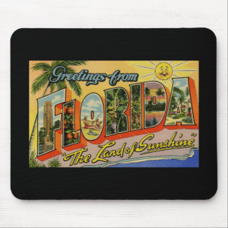 Greetings from Florida Land of Sunshine Mouse Pad