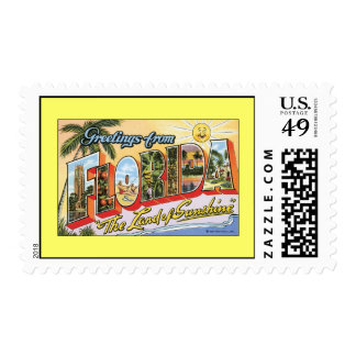 Greetings from Florida Postage Stamp