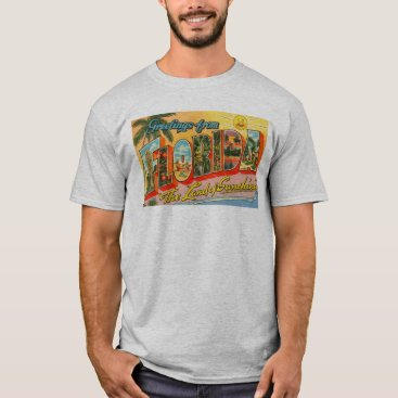 Greetings From Florida Postcard Men's T-Shirt