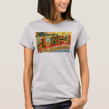 Greetings From Florida Postcard Women's T-Shirt