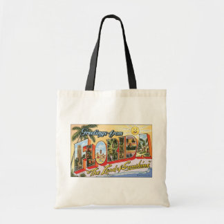 """Greetings From Florida """"The Land Of Sunshine"""", Vin Budget Tote Bag"""