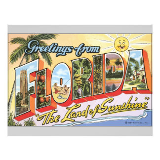 "Greetings From Florida ""The Land Of Sunshine"", Vin Flyer"