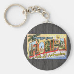 """Greetings From Florida """"The Land Of Sunshine"""", Vin Keychains"""
