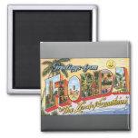 "Greetings From Florida ""The Land Of Sunshine"", Vin Fridge Magnet"
