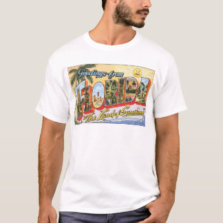 "Greetings From Florida ""The Land Of Sunshine"", Vin T-Shirt"