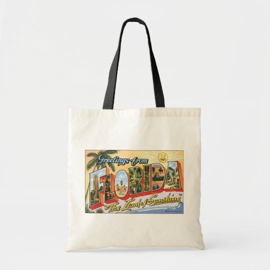 "Greetings From Florida ""The Land Of Sunshine"", Vin Tote Bag"
