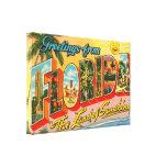 Greetings From Florida Vintage Postcard Canvas Print