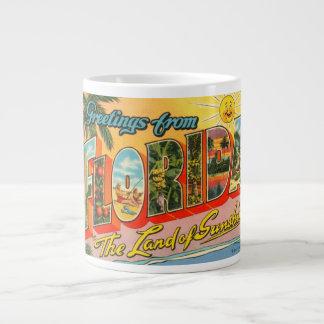 Greetings From Florida Vintage Postcard Large Coffee Mug