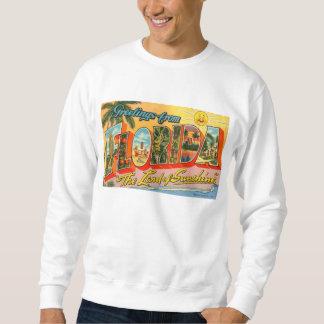 Greetings From Florida Vintage Postcard Pullover Sweatshirts